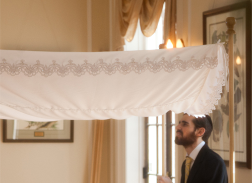 Battenburg Lace Chuppah